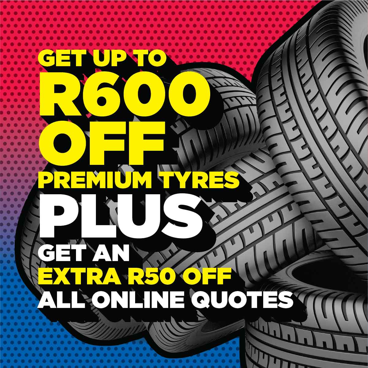 R50 off online quotes