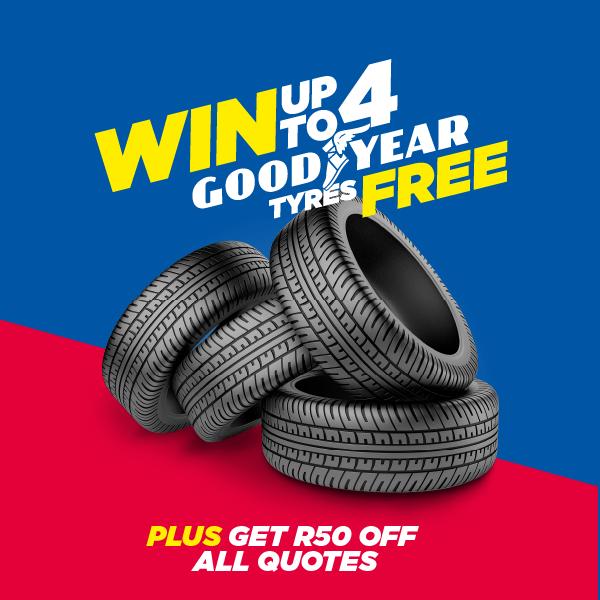 Win Up To 4 Goodyear Tyres Free
